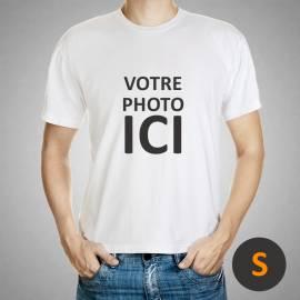 t-shirt personnalisé / taille S / Blanc