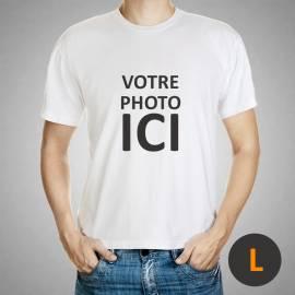 t-shirt personnalisé / taille L / blanc