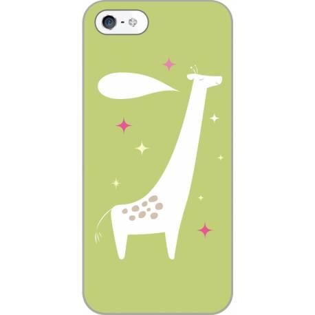 Coque personnalisée La girafe heureuse