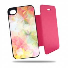 Étui personnalisé à clapet pour iPhone 4 et 4s Rose