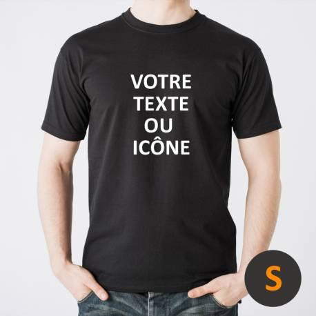t-shirt personnalisé noir / taille S