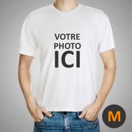 t-shirt personnalisé / taille M / Blanc