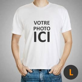 custom tshirt white size L