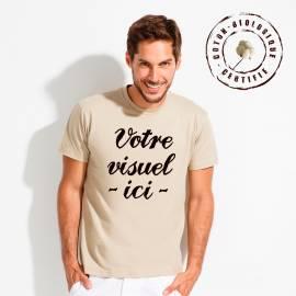t-shirt personnalisé BIO Blanc impression 30 x 40